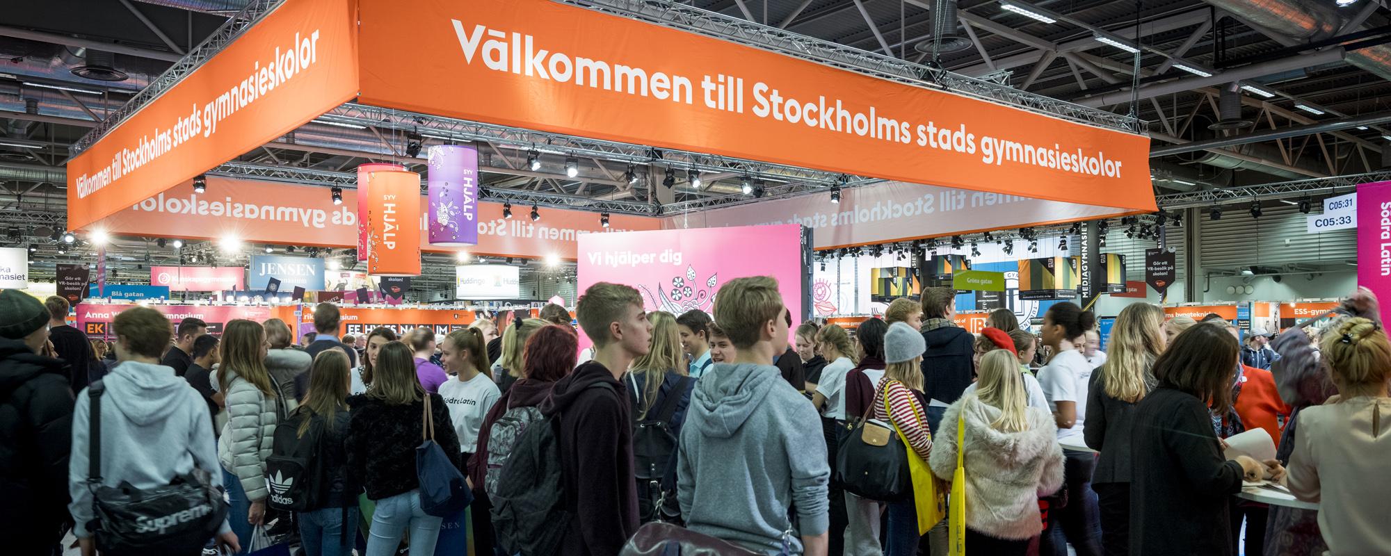 Karta Stockholmsmassan.Boka Monter Till Gymnasiemassan
